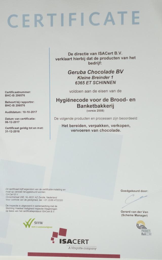 Certificaat Voedselproductie