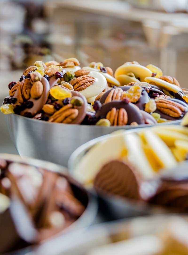Chocolaatjes en repen van Geruba Chocolade